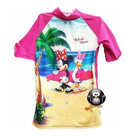 Remera De Playa Minnie Con Filtro Uv