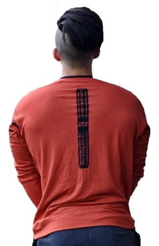 remera deportiva hombre con recortes remeron hombre art 8115