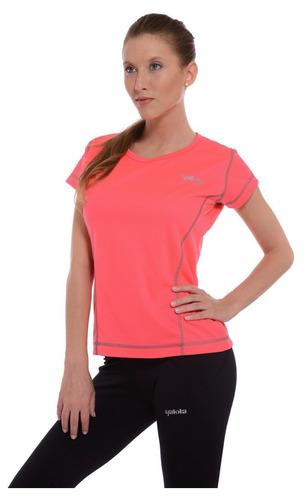 remera deportiva mujer yakka technical cool running