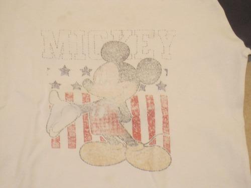remera disney mickey blanca y azul talle 8 años importada