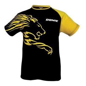 Remera Donic Lion Blackyellow (talle Xl,pero Mirar Medidas!)