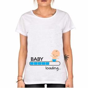 c3c10e451 Remeras Para Embarazadas Estampadas Con Bebe - Remeras Manga Corta ...