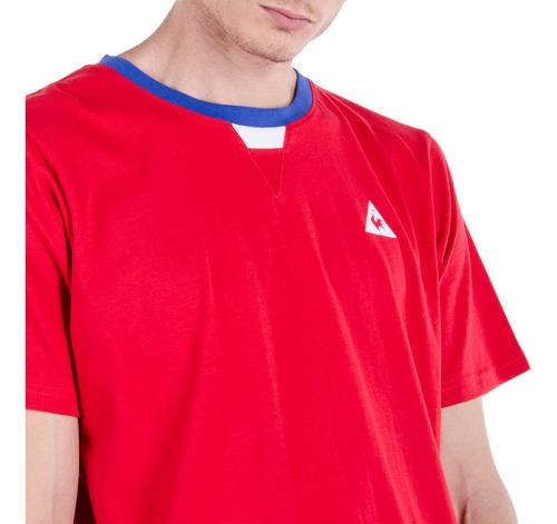 remera ess bbr rojo hombre le coq sportif