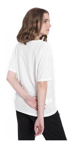remera ess oversize blanco mujer le coq sportif