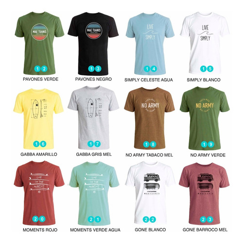 remera estampada surf mae tuanis -muchos diseños para elegir