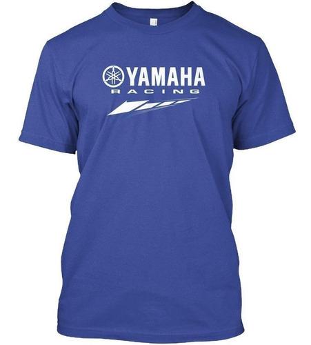 remera fox yamaha manga corta azul yuhmak