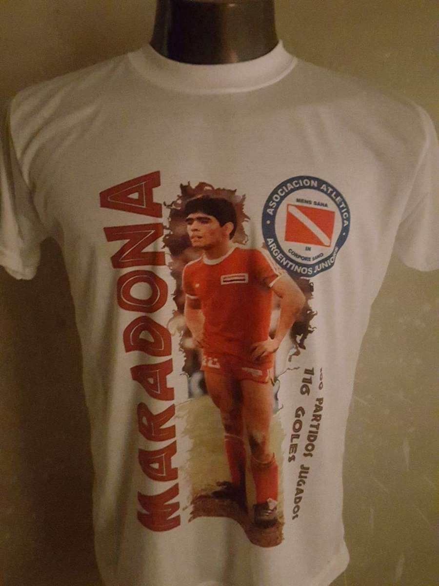remera futbol diego maradona argentinos juniors. Cargando zoom. 185fc7e5488f9