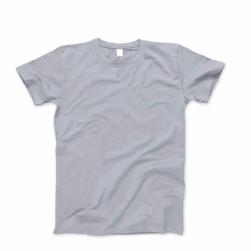 remera gris algodon