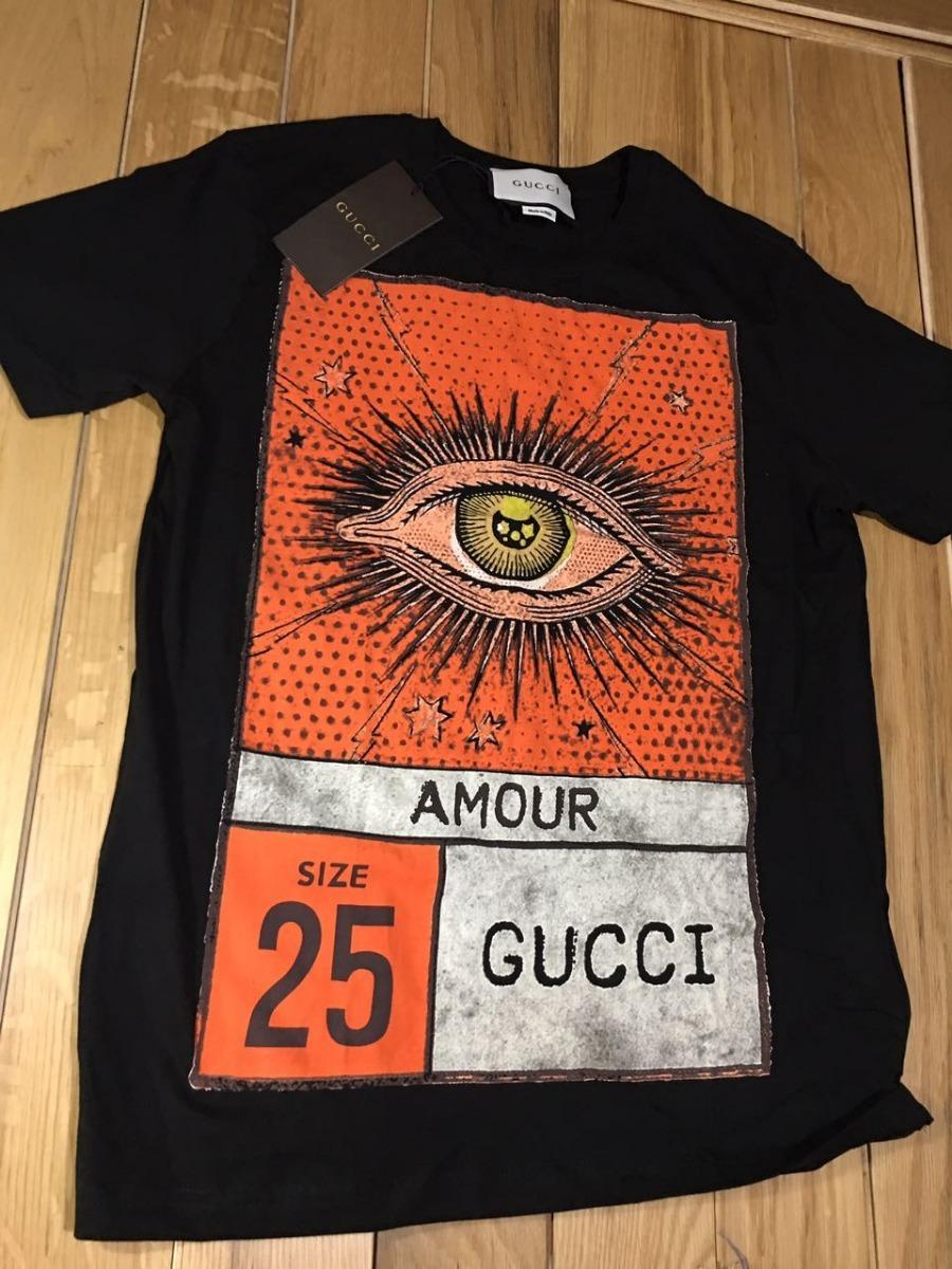 a19e7f413 Remera Gucci Amour Eye Negro - $ 1.690,00 en Mercado Libre