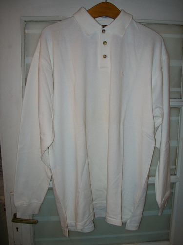 remera hombre color blanco manga larga talle xl