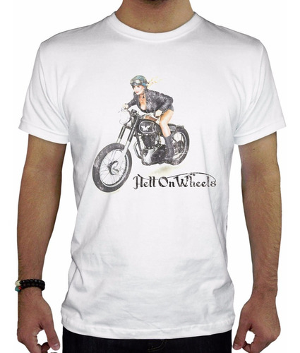 remera hombre  hell on wheels inkpronta