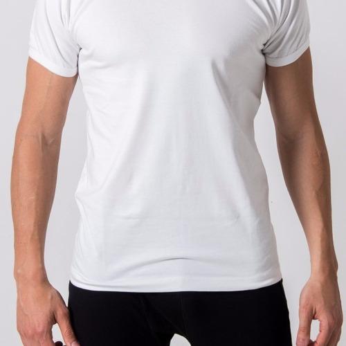 remera hombre lisa 100% algodón jersey peinado 24/1 oferta!