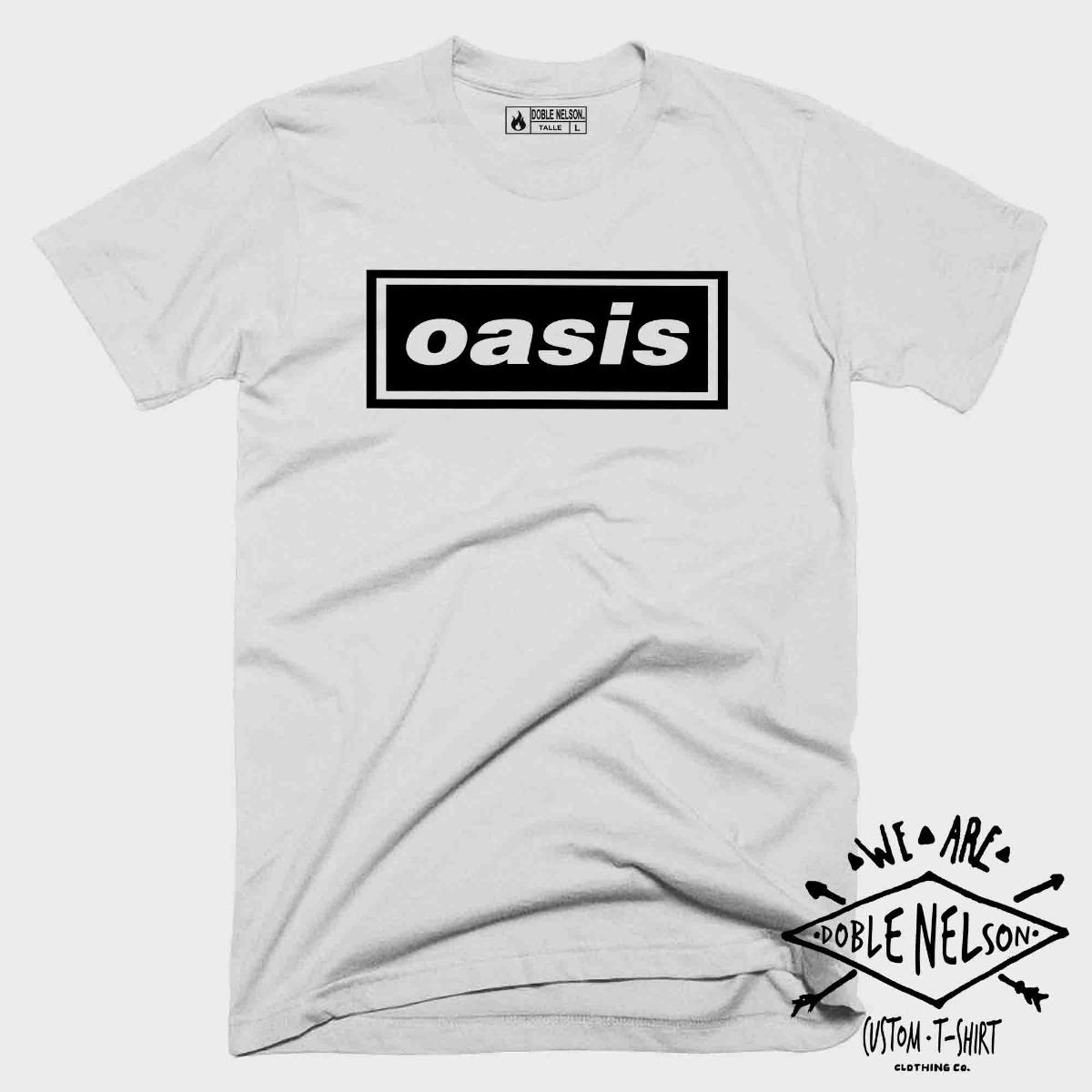Oasis Camiseta Remera Hombre Doble Nelson Rock yIY6g7vfbm