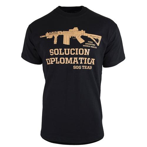 remera hombre sog team® táctica solución diplomática fal