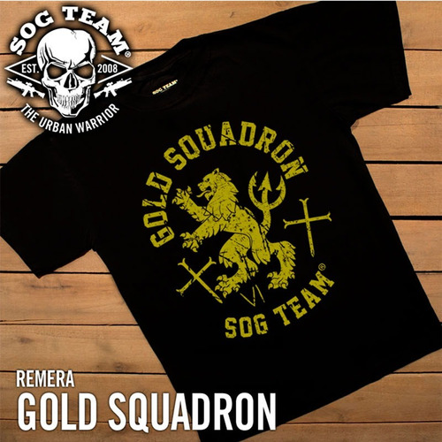 remera hombre tactica gold squadron sog team®