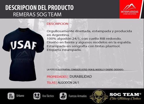 remera hombre tactica sog team® k9 fuerzas especiales