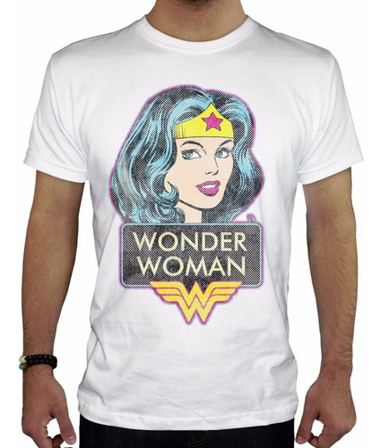 remera hombre  wonder woman inkpronta