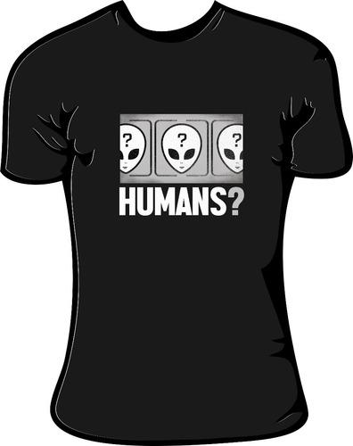 remera  humans? v2  alien, alg, todos los talles   la señal