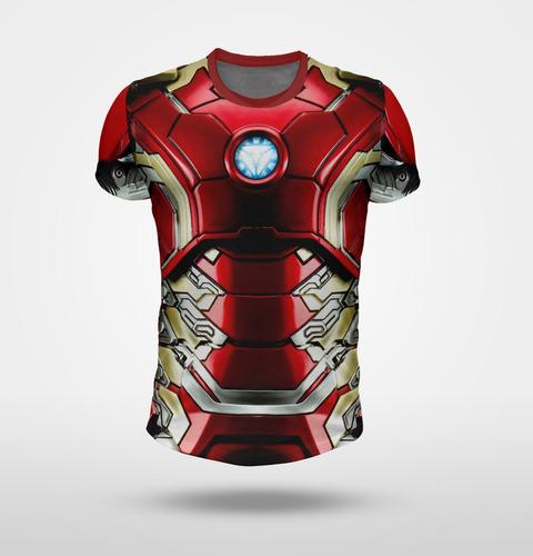remera iroman - modelo armadura x5 - full print