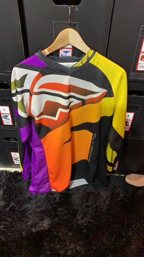 remera jersey motocross fly racing kinetic division m