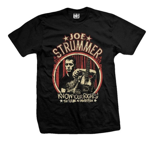 remera joe strummer know your rights