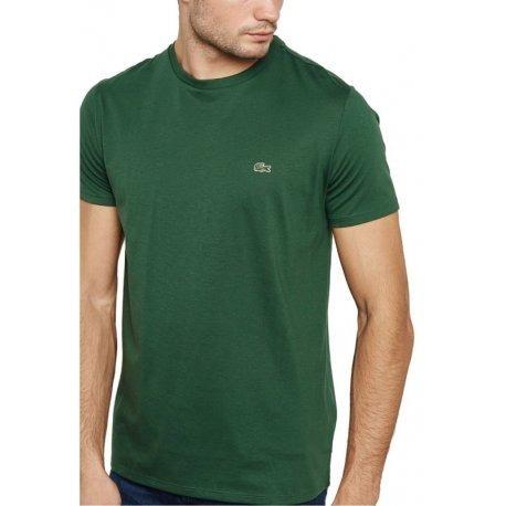 25706261d2a90 Remera Lacoste Hombre Cuello Redondo Th6709 Verde -   1.175