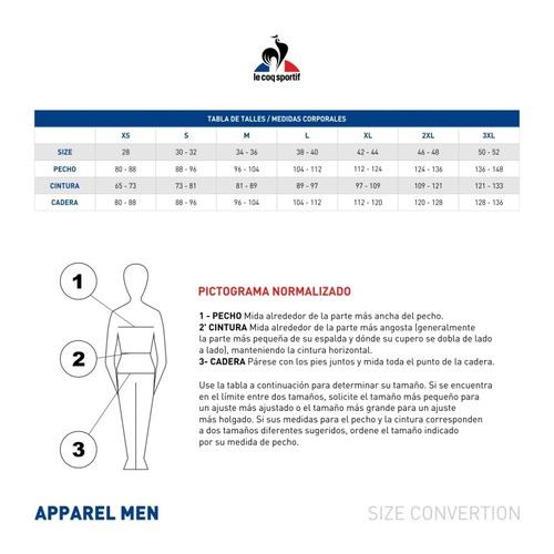 remera  le coq sportif  gelp training t-sh hombres