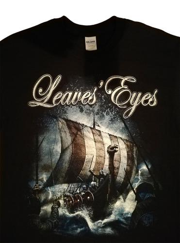 remera leaves' eyes - hombre - talla m - marca gildan