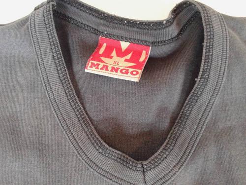 remera manga corta batik marca mango talle l