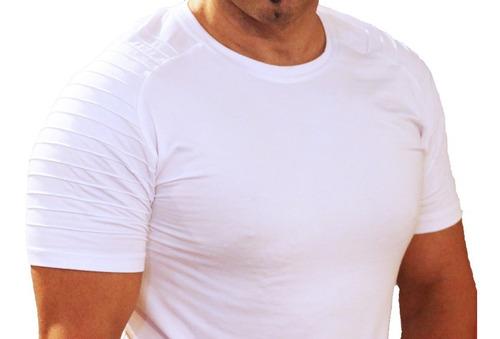 remera manga corta de hombre promocion lanzamiento art 9112