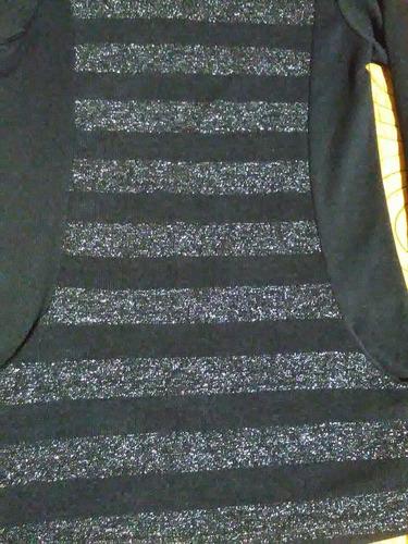 remera manga larga negra talle 1