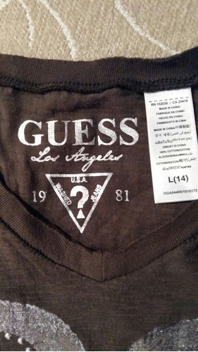 remera marca guess divina talle 14