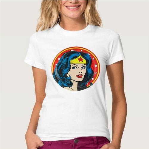 remera mas atractivo divertido superman wonder woman de ver