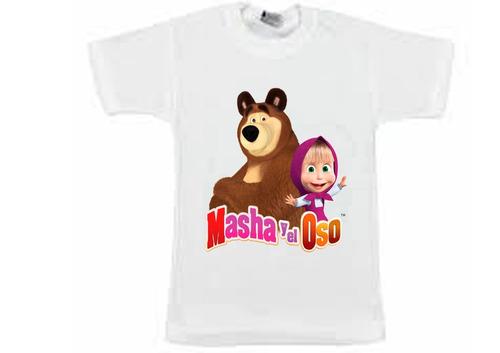 remera masha y el oso