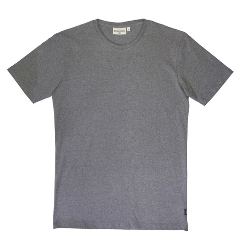 remera m/c billabong fundamental tee gris hombre