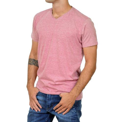 remera mistral slim fit lisa escote v hombre mod 51122 inv18