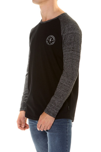 remera m/l billabong rotor long tee negro hombre