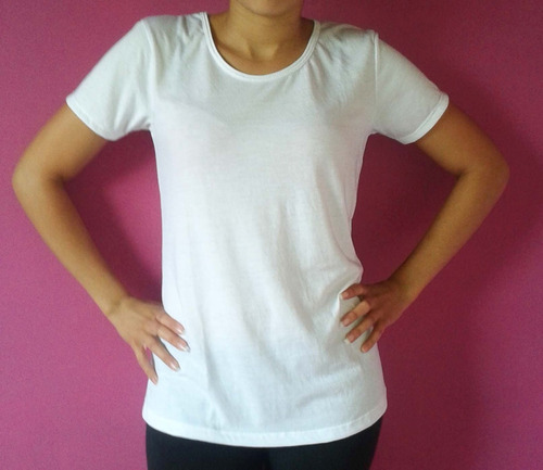 remera modal lisas 100% sublimable