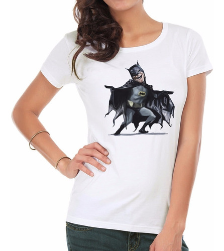 remera mujer  batman inkpronta