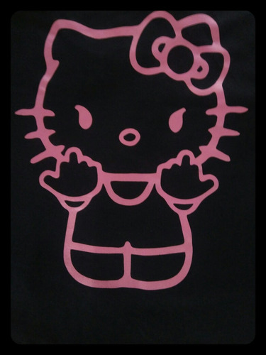 remera mujer entallada kitty furiosa 100 % algodón