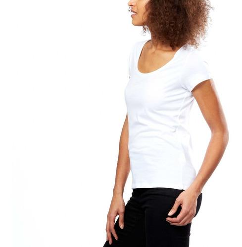 remera mujer lisa manga corta algodón 20 colores
