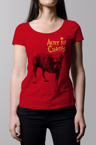 remera mujer rock alice in chains | b-side tees