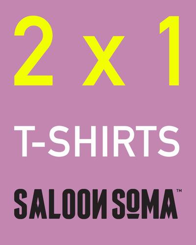 remera mujer saloon soma 2 x 1