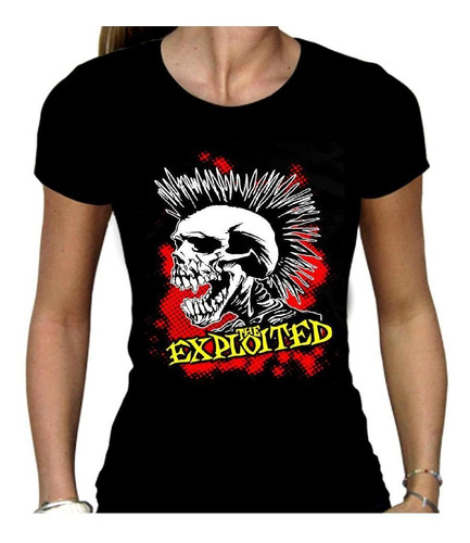 remera mujer the exploited  clasic