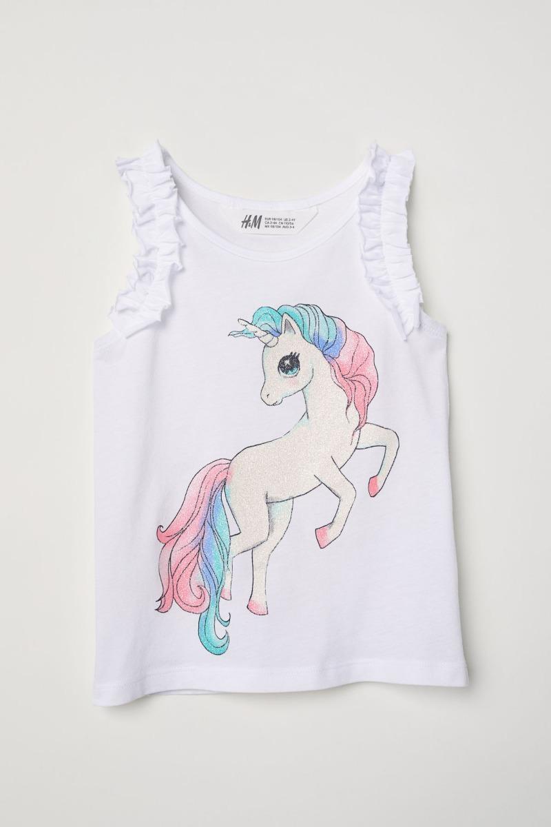 bc00abfeb Remera Musculosa Niña Nena Hym H&m Unicornio Nueva Talle4/6 - $ 450 ...