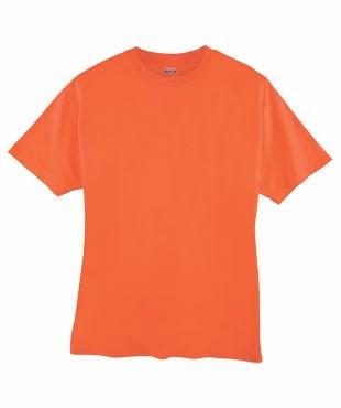 remera naranja aptas para sublimar bordar o serigrafía