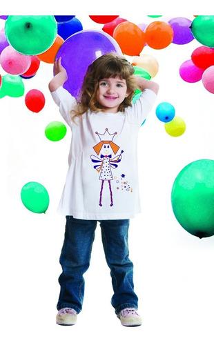 remera nena - estampa varia color con luz solar
