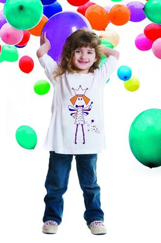 remera nena - estampa varia color con luz solar - bloqueouv