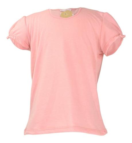 remera nena volado mangas lisas rosa salmon regalosdemama