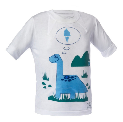remera nene - estampa varia color con luz solar